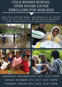 Cold Spring School - Open House for 2018-2019 School Year @ Cold Spring School - Environmental Studies and STEM Magnet (IPS)